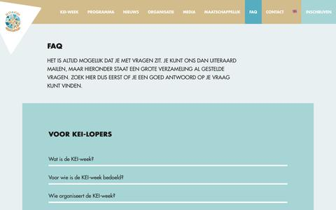 Screenshot of FAQ Page keiweek.nl - FAQ - KEI-week 2018 - captured Oct. 18, 2018
