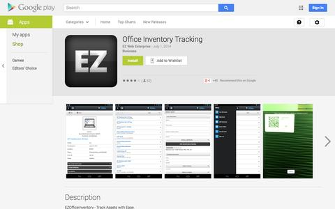 Screenshot of Android App Page google.com - Office Inventory Tracking - Android Apps on Google Play - captured Oct. 27, 2014