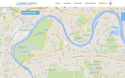 Screenshot of Contact Page shorecap.co.uk - Shore Capital - Contact us - captured Nov. 4, 2014