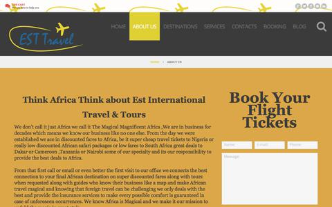 Screenshot of About Page esttravel.net - About EST Travel - We are Trusted Tour & Travel Agency in Houston, USA - captured Aug. 26, 2017