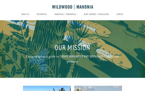 Screenshot of About Page wildwoodco.com - About Wildwood | Mahonia - captured Feb. 16, 2016