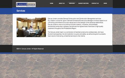 Screenshot of Services Page canusojorden.com - Services | - captured Oct. 1, 2014