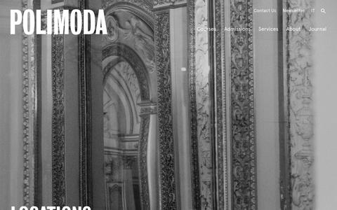Screenshot of Locations Page polimoda.com - Polimoda Locations | Villa Favard & the Design Lab - captured Aug. 12, 2017