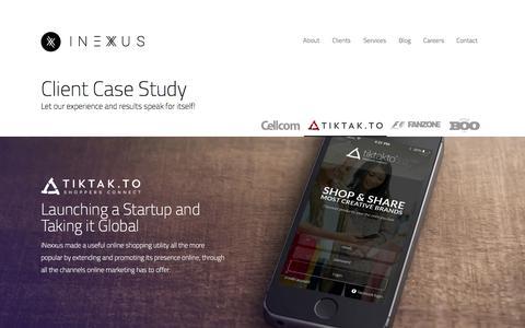 Screenshot of Case Studies Page inexxus.com - Digital Marketing Agency | iNexxus | Tiktakto - captured Oct. 29, 2014
