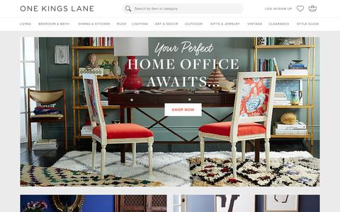 Screenshot of Login Page onekingslane.com - Furniture, Sofas, Rugs, Bedding, Home Decor   One Kings Lane - captured Jan. 29, 2016