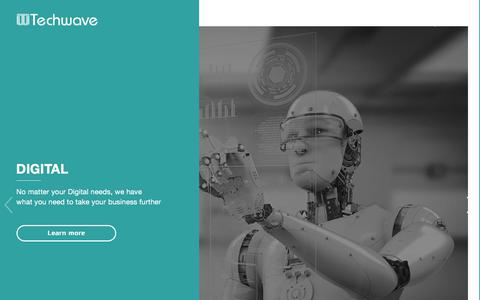Screenshot of Home Page techwave.net - IT Consulting Services and Solutions - Techwave - captured Aug. 19, 2019