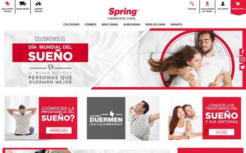 Screenshot of Blog colchonesspring.com.co - Todo sobre el sueño en nuestro Día del sueño   Colchones Spring - captured Oct. 11, 2018