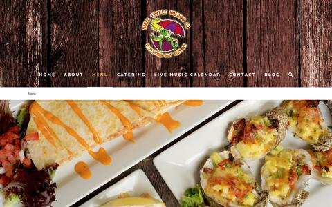 Screenshot of Menu Page nakedturtle.net - Menu | Restaurants on Lake Champlain - captured Oct. 20, 2018