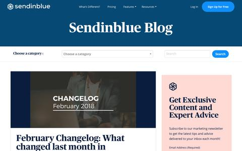 Screenshot of Blog sendinblue.com - February Changelog: What changed last month in Sendinblue? | Sendinblue - captured Nov. 1, 2019