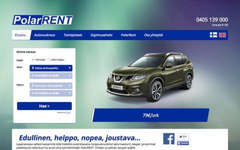 Screenshot of Contact Page polarrent.fi - Etusivu | Autovuokraamo Polar Rent - captured Aug. 4, 2015