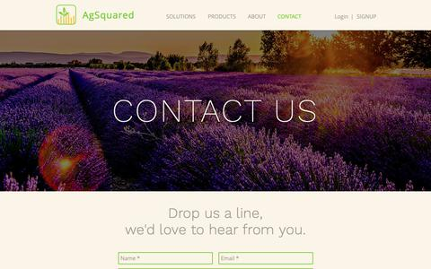 Screenshot of Contact Page agsquared.com - CONTACT   AgSquared - captured Dec. 7, 2018