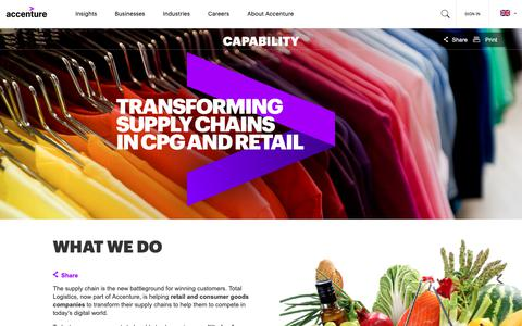Screenshot of accenture.com - Supply Chain Transformation | Accenture - captured Oct. 20, 2018