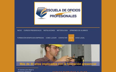 Screenshot of Blog oficiosprofesionales.es - Escuela de Oficios Profesionales - BLOG - captured Sept. 26, 2015
