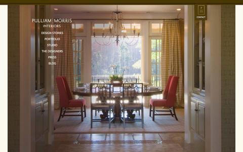 Screenshot of Home Page pulliammorris.com - Pulliam Morris | Interior Design, Columbia SC - captured Oct. 3, 2014