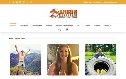 Screenshot of Team Page crossfitarbor.com - Arbor CrossFit Coaches - Arbor CrossFit Boise, ID - captured Nov. 21, 2016