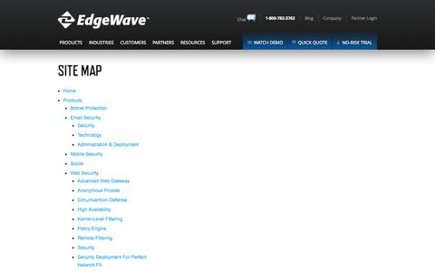 Screenshot of Site Map Page edgewave.com - Site Map - EdgeWave - captured Oct. 28, 2014