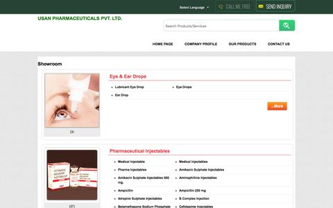 Screenshot of Products Page usanpharma.com - USAN PHARMACEUTICALS PVT. LTD. - Exporter, Manufacturer & Supplier, Mumbai, India - captured Dec. 2, 2016