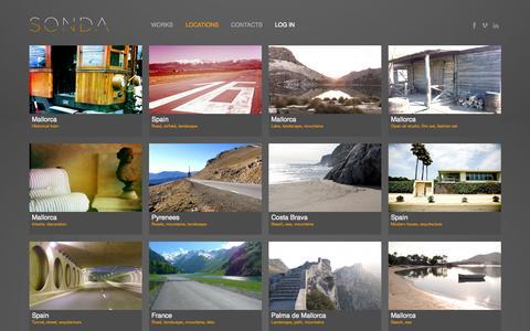 Screenshot of Locations Page sondapro.com - Sonda Productions - captured Oct. 6, 2014