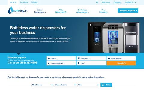 Screenshot of Products Page waterlogic.com - Rent or Buy Water Dispensers for your Office · Waterlogic - captured Nov. 21, 2016