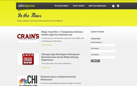 Screenshot of Press Page silvrspoon.com - SilvrSpoon | Press - captured Oct. 26, 2014