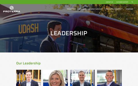 Screenshot of Team Page proterra.com - Leadership   Proterra - captured July 22, 2019