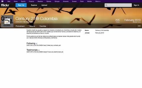 Screenshot of Flickr Page flickr.com - Flickr: CENTURY 21® COLOMBIA - captured Oct. 22, 2014