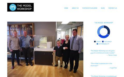 Screenshot of Blog themodelworkshop.com - BLOG — The Model Workshop: architectural scale model makers - captured Aug. 15, 2016