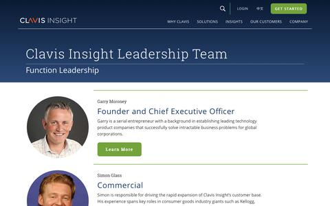 Screenshot of Team Page clavisinsight.com - About Us Page | Clavis Insight - captured April 18, 2018