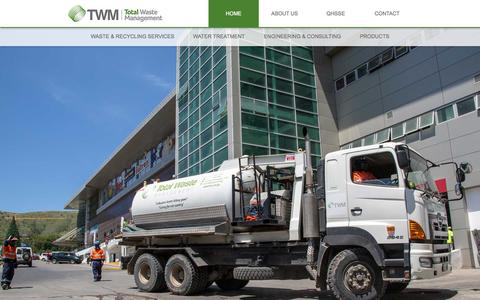 Screenshot of Home Page twm.com.pg - TWM - TOTAL WASTE MANAGEMENT - captured Aug. 14, 2015