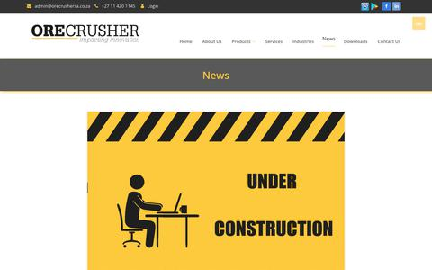 Screenshot of Press Page orecrusher.co.za - News - OC - captured Nov. 2, 2017
