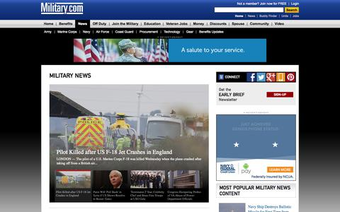 Screenshot of Press Page military.com - Military Daily News | Military.com - captured Oct. 22, 2015