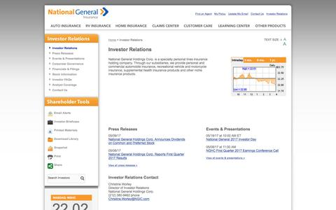 Investor Relations - National General
