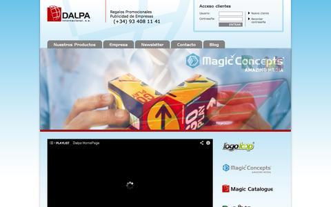 Screenshot of Home Page dalpa.es - Regalos Promocionales - Publicidad de Empresas - Productos Promociones - captured Oct. 7, 2014