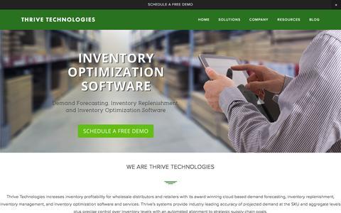 Screenshot of Home Page thrivetech.com - Thrive Technologies - captured Feb. 16, 2016
