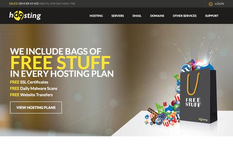 Screenshot of Home Page d9.hosting - Reliable Unlimited Domain cPanel Web Hosting | D9 Hosting - captured July 4, 2018