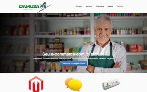 Screenshot of Home Page gamuza.com.br - Gamuza Technologies - Website - captured July 19, 2015