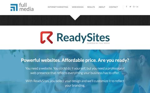 Screenshot of fullmedia.com - ReadySites - Websites for Small Businesses - captured Aug. 27, 2016