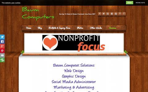Screenshot of Services Page baumcomputers.com - Contact Us - Baum Computers - captured Sept. 30, 2014