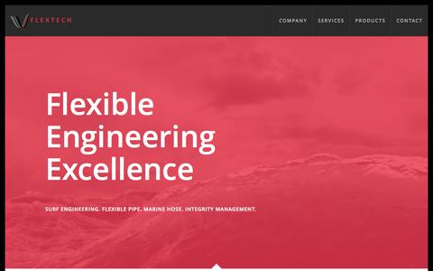 Screenshot of Home Page flex-tech.co.uk - Flextech Ltd, Flexible Engineering Excellence - captured June 19, 2015