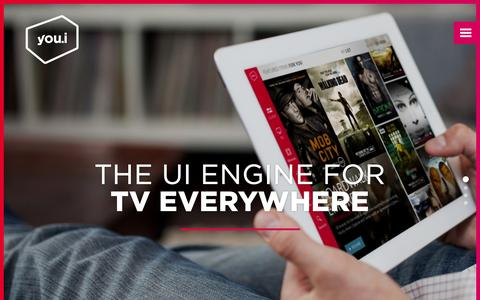 Screenshot of Home Page youi.tv - You.i TV - The UI Engine For TV Everywhere - captured Jan. 24, 2015
