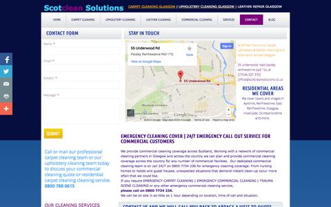 Screenshot of Privacy Page Contact Page scotcleansolutions.co.uk - Scotclean Solutions office commercial cleaning Glasgow cleaners - captured Oct. 23, 2014