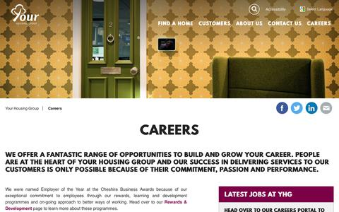 Screenshot of Jobs Page yourhousinggroup.co.uk - Careers - captured June 11, 2017