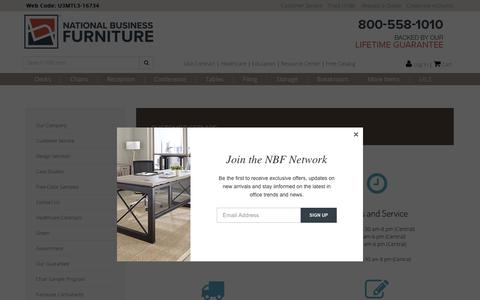 Screenshot of Support Page nationalbusinessfurniture.com - Unbeatable Customer Service at National Business Furniture - captured Oct. 23, 2017