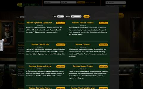 Screenshot of Support Page bethard.com - BetHard.com - Casino & Sports on your computer and mobile - captured Nov. 14, 2015