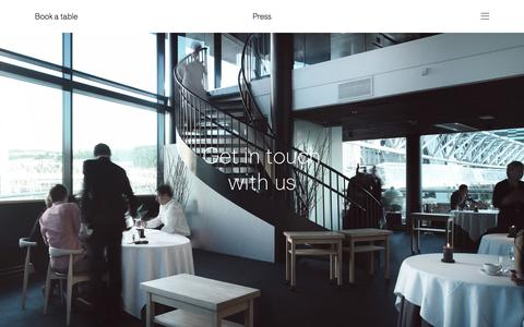 Screenshot of Press Page maaemo.no - Get in touch with us Đ Maaemo - captured Dec. 20, 2015