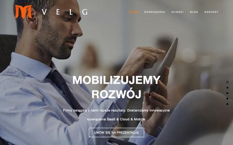Screenshot of Home Page velg.pl - Najlepsza selekcja aplikacji mobilnych i oprogramowania w chmurze dla Twojej firmy | VELG - captured Sept. 2, 2015