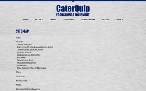 Screenshot of Site Map Page caterquip-gb.co.uk - Foodservice Equipment - captured Jan. 26, 2016