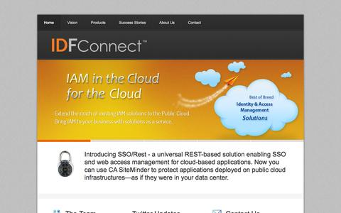 Screenshot of Home Page idfconnect.com - IDF Connect - captured Oct. 4, 2014