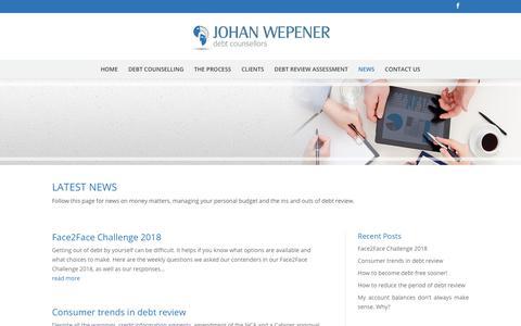 Screenshot of Press Page johanwepenerdebt.co.za - How to manage debt   Johan Wepener Debt Counsellors - captured Sept. 24, 2018