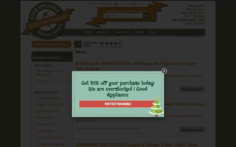 Screenshot of Press Page good-appliance.com - News | Good Appliance - captured Dec. 8, 2018